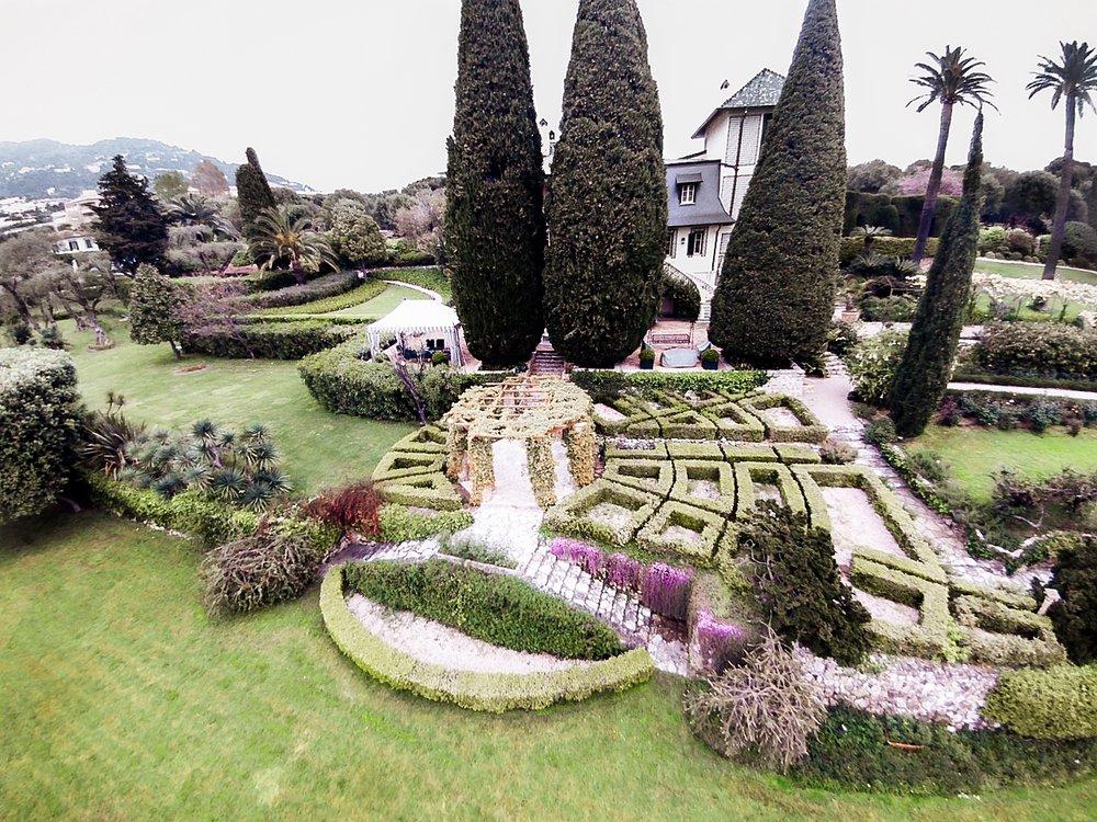 Vista aerea del giardino Cap Martin - Costa Azzurra