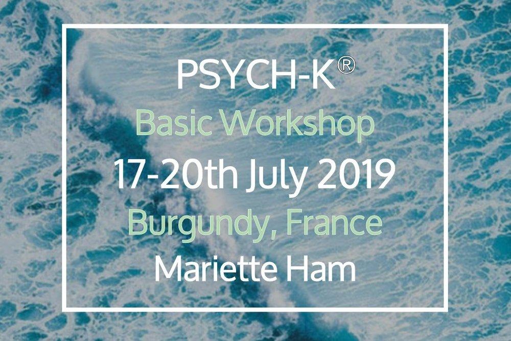 PSYCH-K® Basic Workshop - 17 Jul, 2019 17:30 - 20 Jul, 2019 17:00Ferme du Chateau de LaSalle (map)