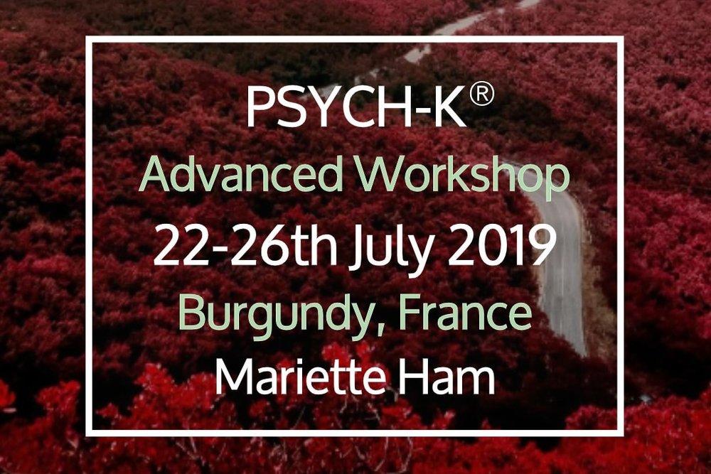 PSYCH-K® Advanced Workshop - 22 Jul, 2019 17:30 - 26 Jul, 2019 17:30Ferme du Chateau de LaSalle (map)