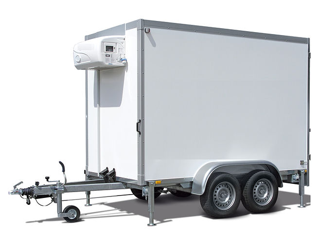 Our brand new 2016 Humbaur refrigerated trailers.