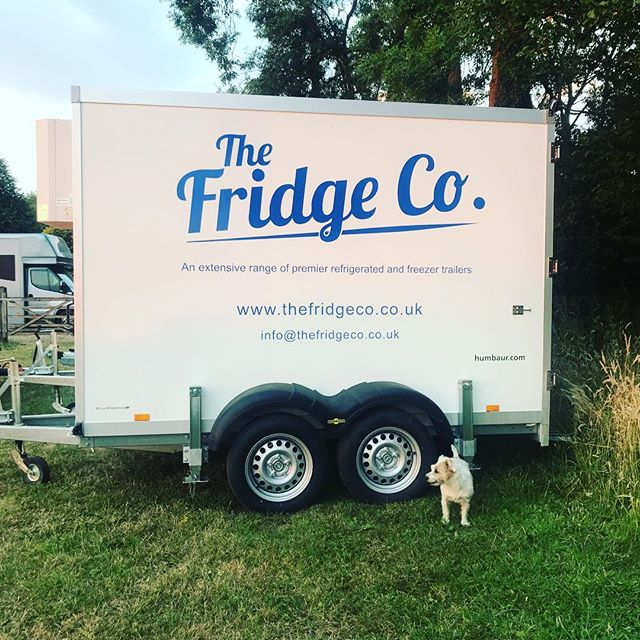 Our guard dog is on duty tonight!! 👍🐶 #jackrusselllife #refrigeratedtrailerhire