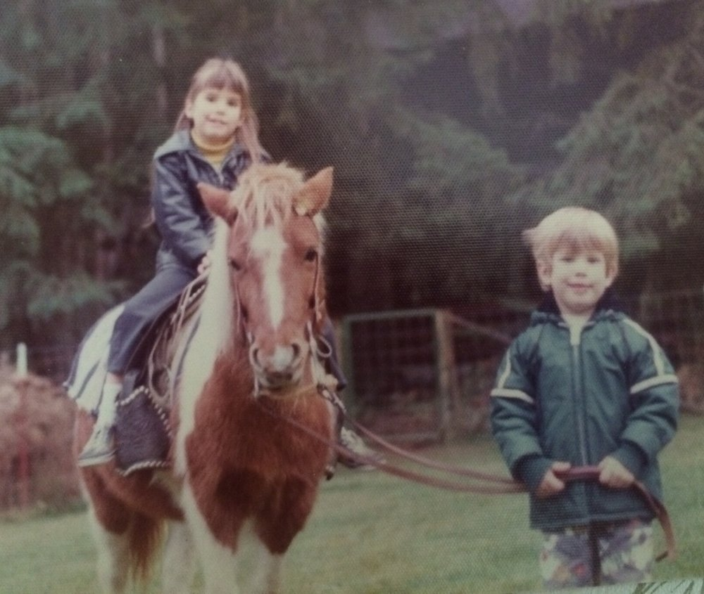 Jony the pony with me and my brother Matt.