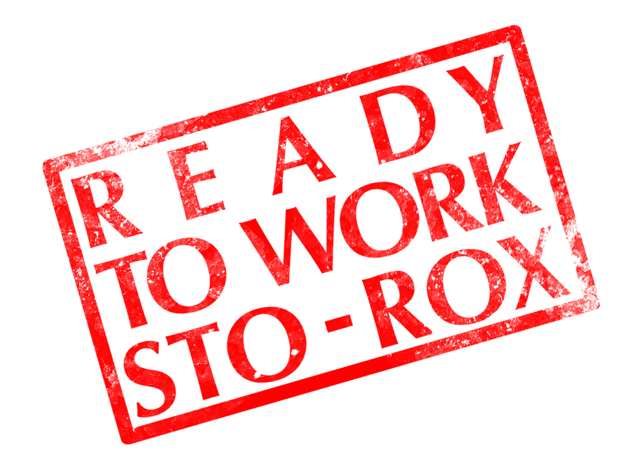 Ready to Work Sto-Rox Focus On Renewal Logo