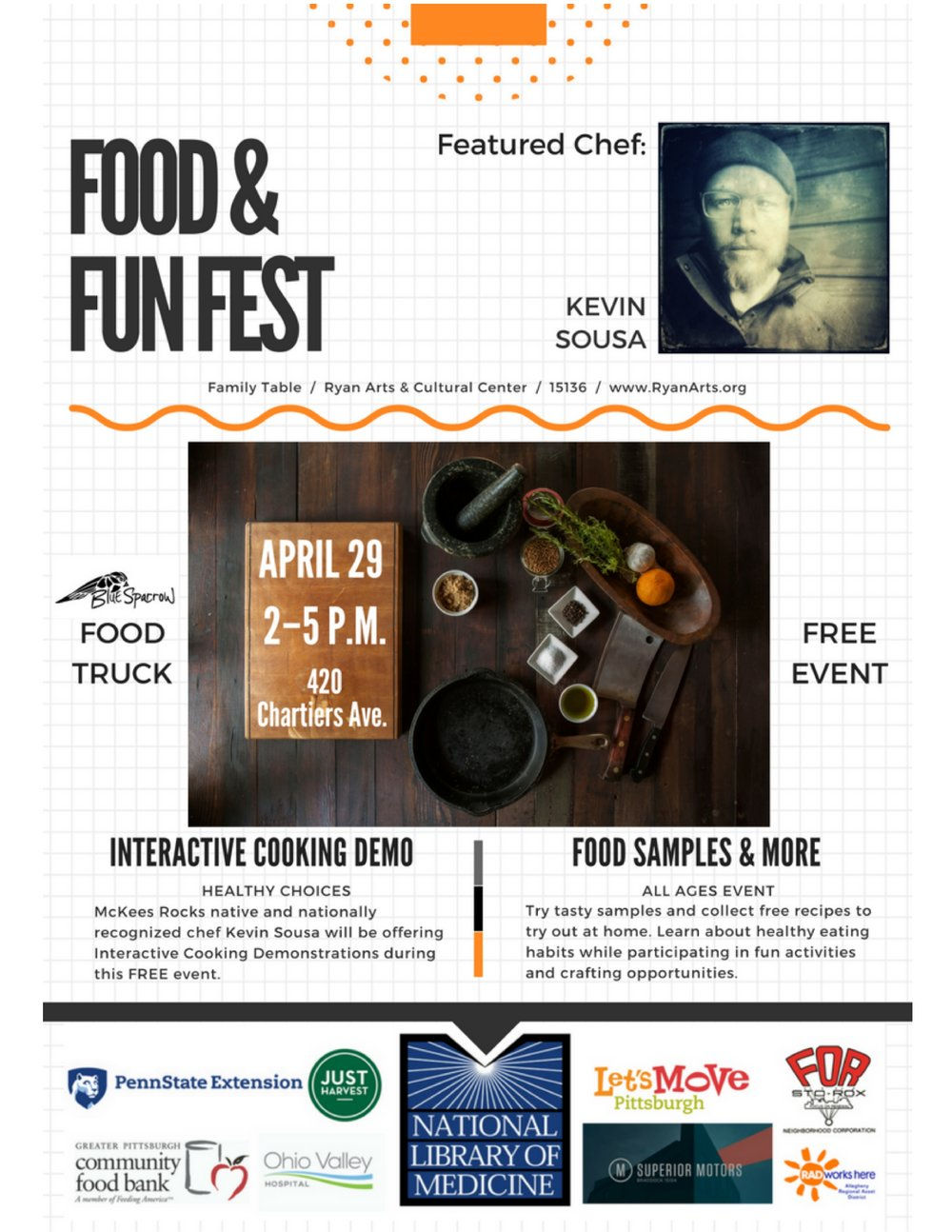 Food and Fun Fest Father Ryan Arts Center Family Table Focus On Renewal Sto-Rox Cooking Demonstrations Food Samples