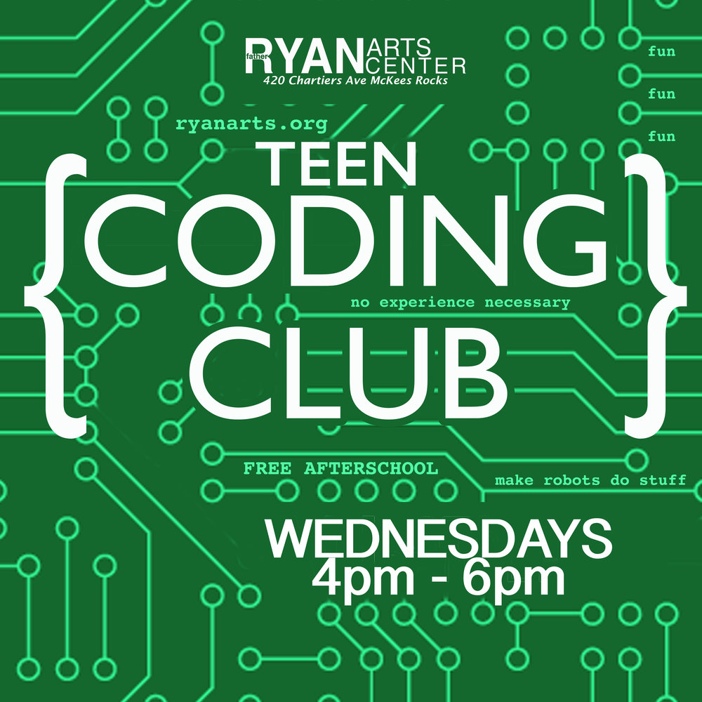 Father Ryan Arts Center Teen Coding Club Focus On Renewal Sto-Rox Afterschool Digital Literacy