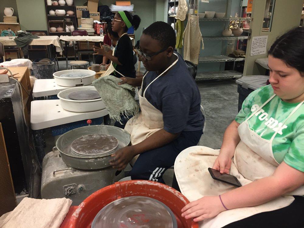Ceramics at Ryan Arts Center, Pottery Class