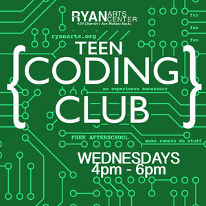 TEEN PROGRAMS - We offer a casual drop in Coding Club every wednesday from 4pm - 6pm. What do we do? We begin with the basics of coding using Code.org. Students then understand the basics of JavaScript and HTML.Register for Spring 2019!