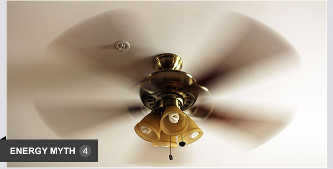 Leaving a ceiling fan on will cool a room.    Ceiling fans circulate air, making your skin feel cooler. This allows you to save energy by raising the thermostat. However, they don't cool the air. Leaving them on in empty rooms wastes energy.