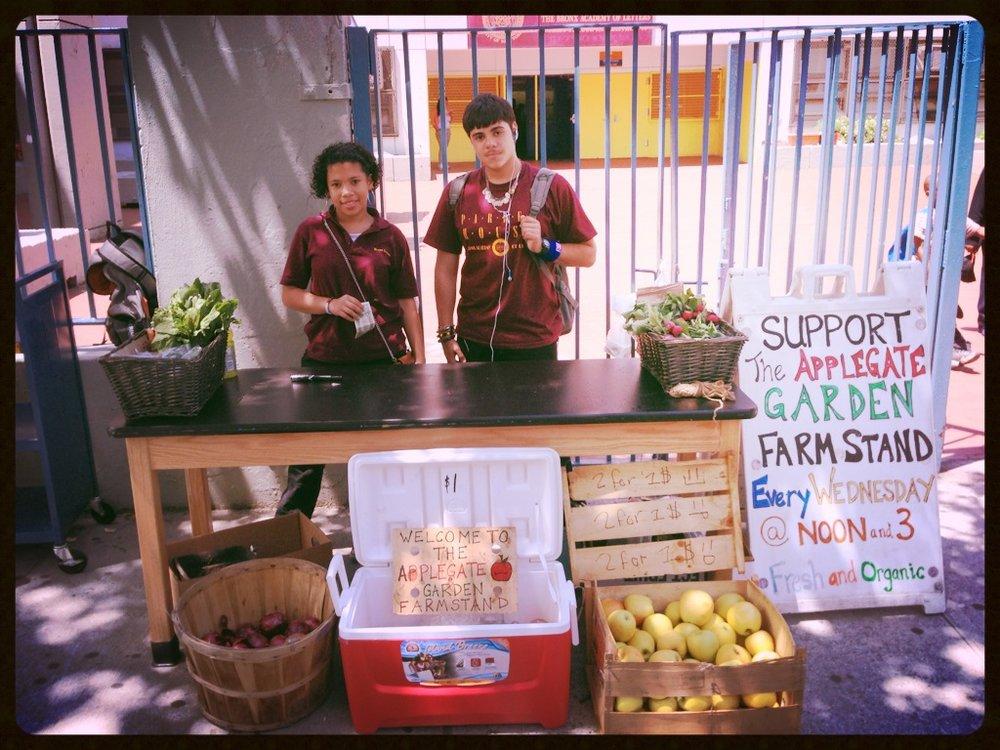 Bronx Academy of Letters Farmstand.JPG