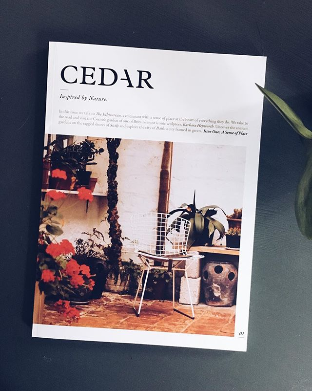 Finally got our hands on a copy of @cedarmagazine ! The first issue is full of stunning photography and articles inspired by plants and nature. Beautiful work guys 👌🏻🌿 #cedarmagazine #printisnotdead  #independentmagazine