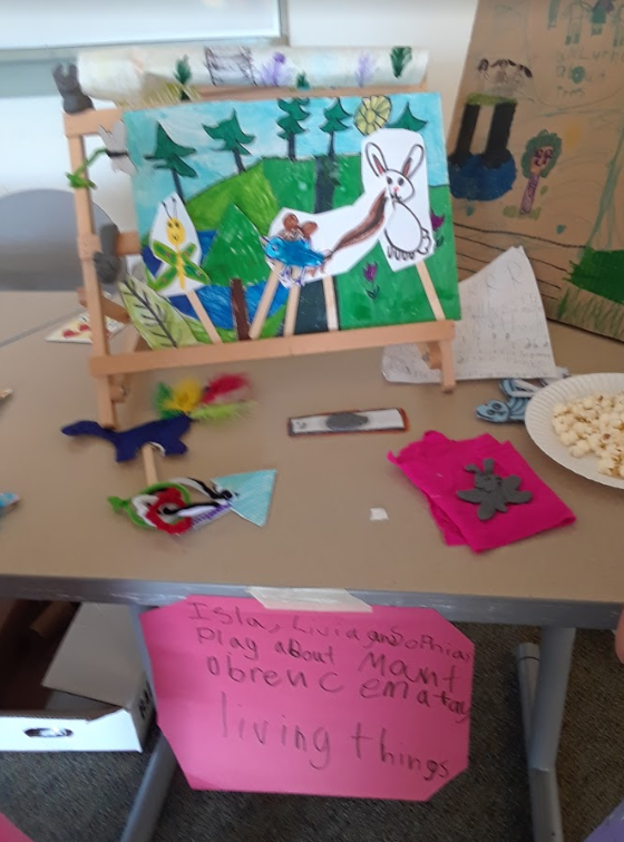 Part of a group's final puppet show