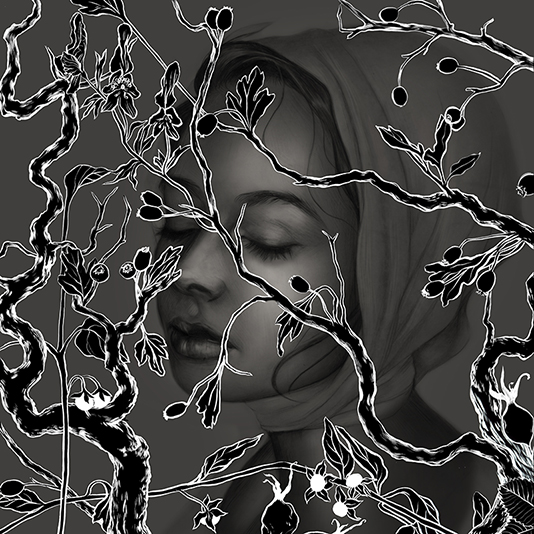 To get myself out of a slump and to take advantage of free entries to American Illustration (due Friday), I'm trying to finish as many illustrations as I can this week (I'd try one a day but I have a comic to draw, too). For Monday, falling back on a personal cliché: women obscured by foliage. Because Photoshop makes infinite variability way too easy, there are five versions up on my blog, here: http://hazelleesantino.com/the-witchs-garden/