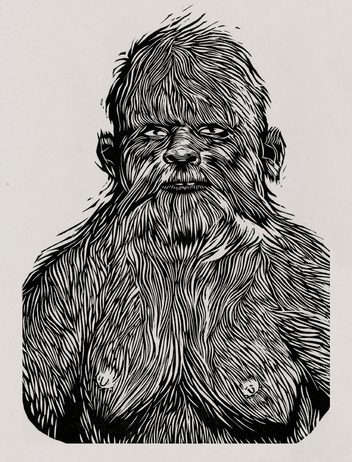 Portrait of Bigfoot.