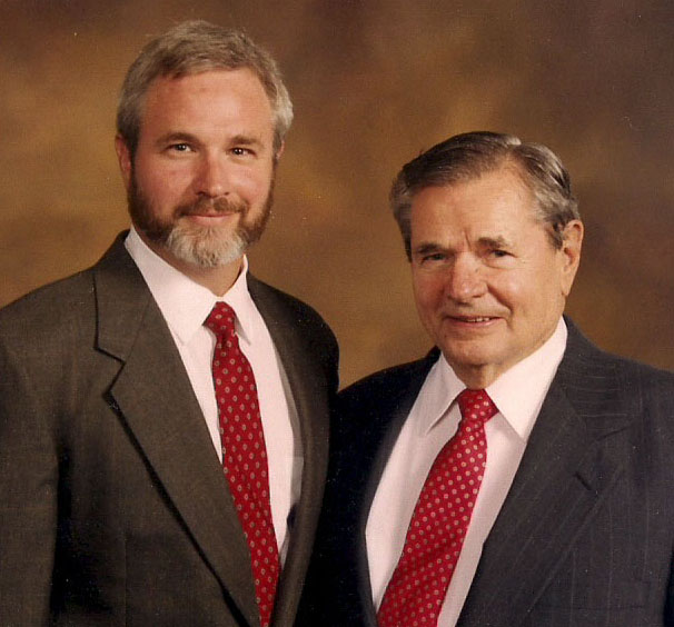 Tom Lang, 4th generation Lang Carpet owner, and his father H. Vaughn Lang Jr., also a Lang Carpet owner.