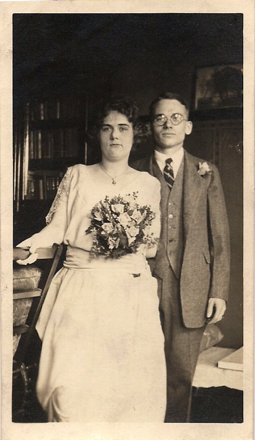 George F. Lang and his wife of 50 years, Alice.