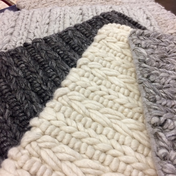 Chunky wool rug sample