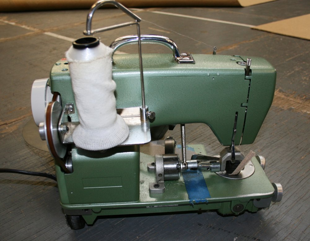 One of our carpet binding machine