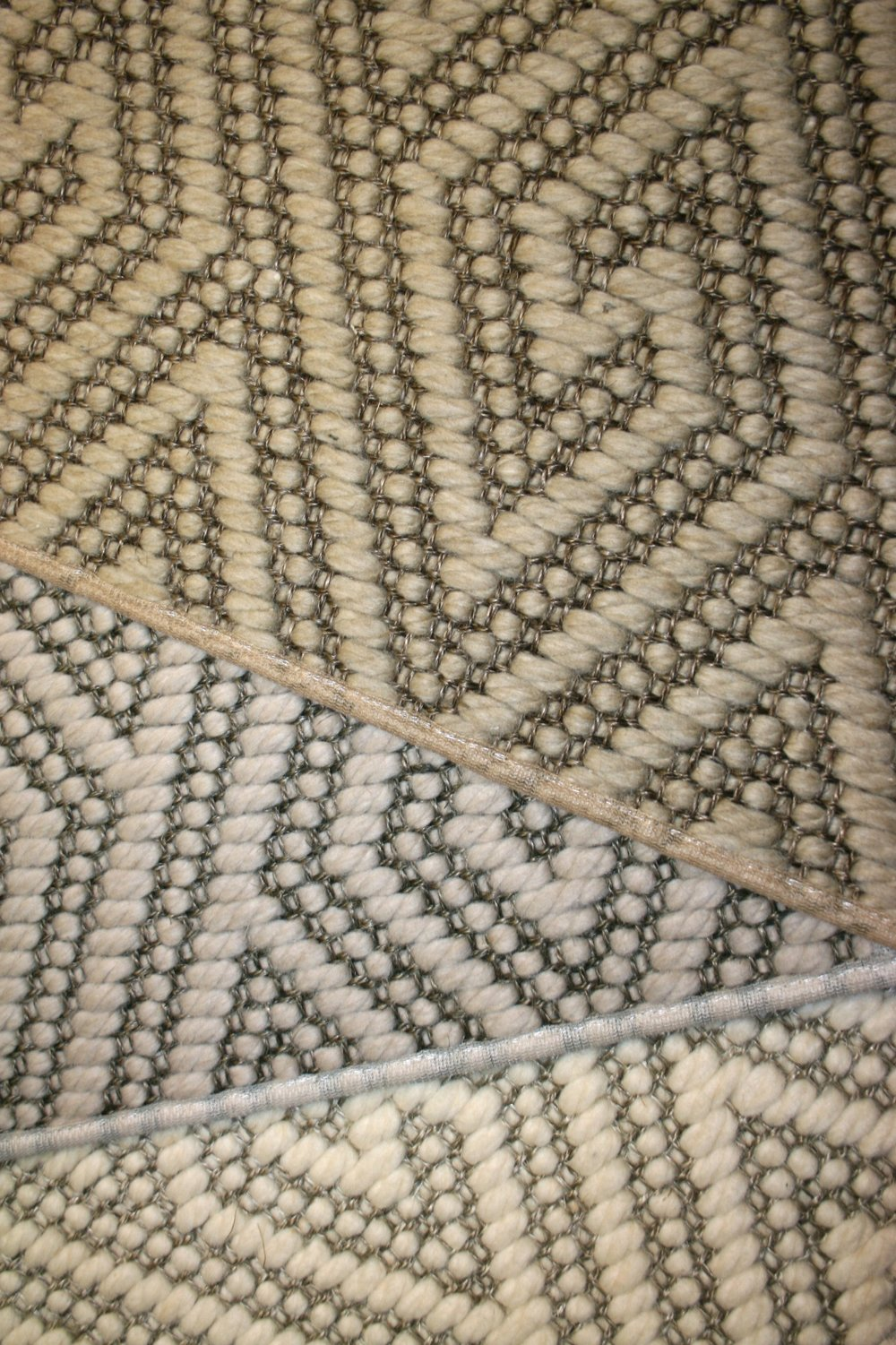 Wool & Sisal diamond greek key samples