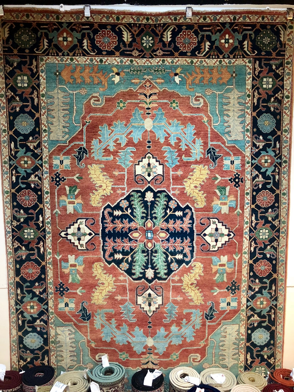 Oriental rug with unique center medallion