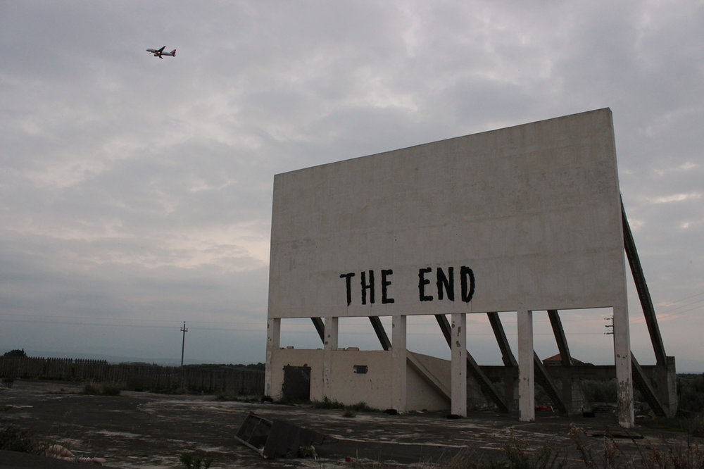 """The End"" ex drive-in, Sigonella, Italy late 2015"