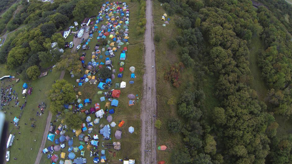 Drone Photo of Festival Site