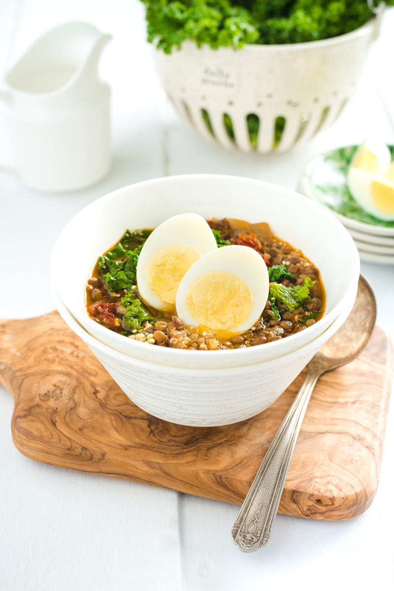 SOUPE AUX LENTILLES Ma nouvelle obsession est d'ajouter des œufs cuits durs partout : dans les salades, les wraps et les soupes. Il s'agit d'un super en cas qu'on peut même manger seul... →