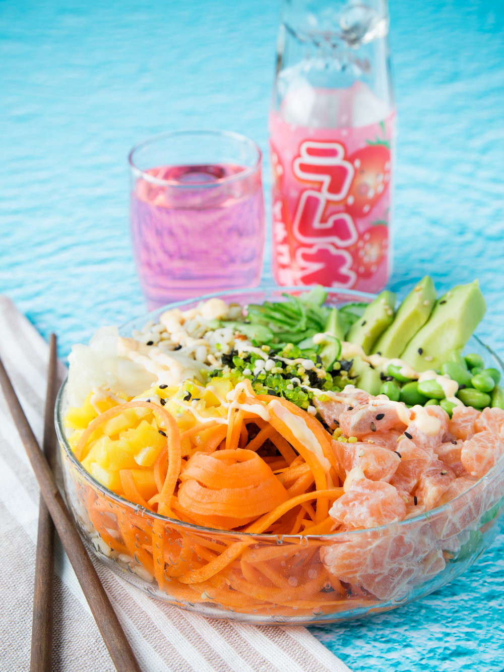 Poke bowl Photo et stylisme : Hubert Cormier