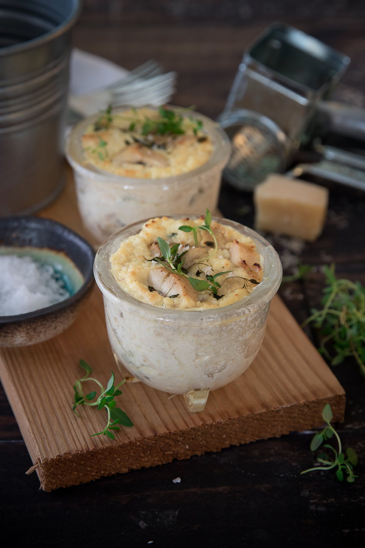 Gâteau au fromage salé avec dindon fumé Photographie et stylisme culinaire : Hubert Cormier