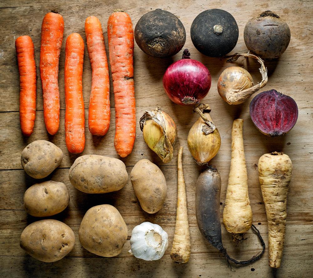 Exemples de produits locaux et de saison Image : Shutterstock