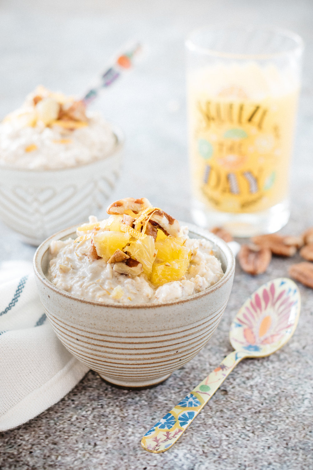 Overnight oats  à l'orange Photographie et stylisme culinaire : Hubert Cormier