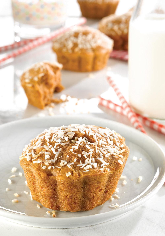 Muffins moelleux à la patate douce Recette tirée du livre     Savoir quoi manger - Enfants     par Stéphanie Côté, nutritionniste