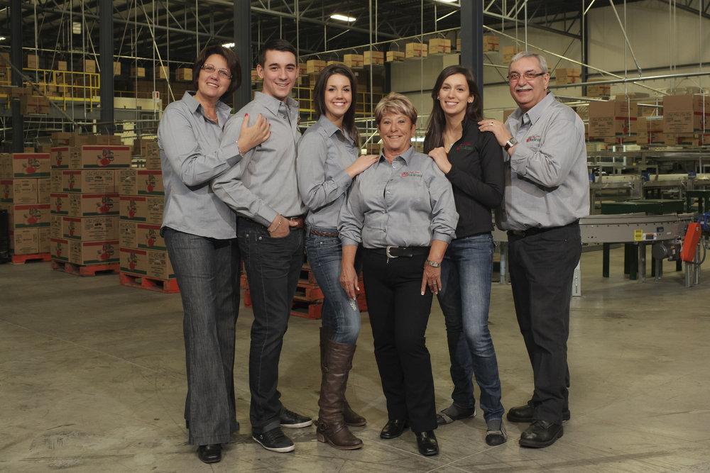 Famille Boileau cultivateurs agriculteurs pomme Ariane