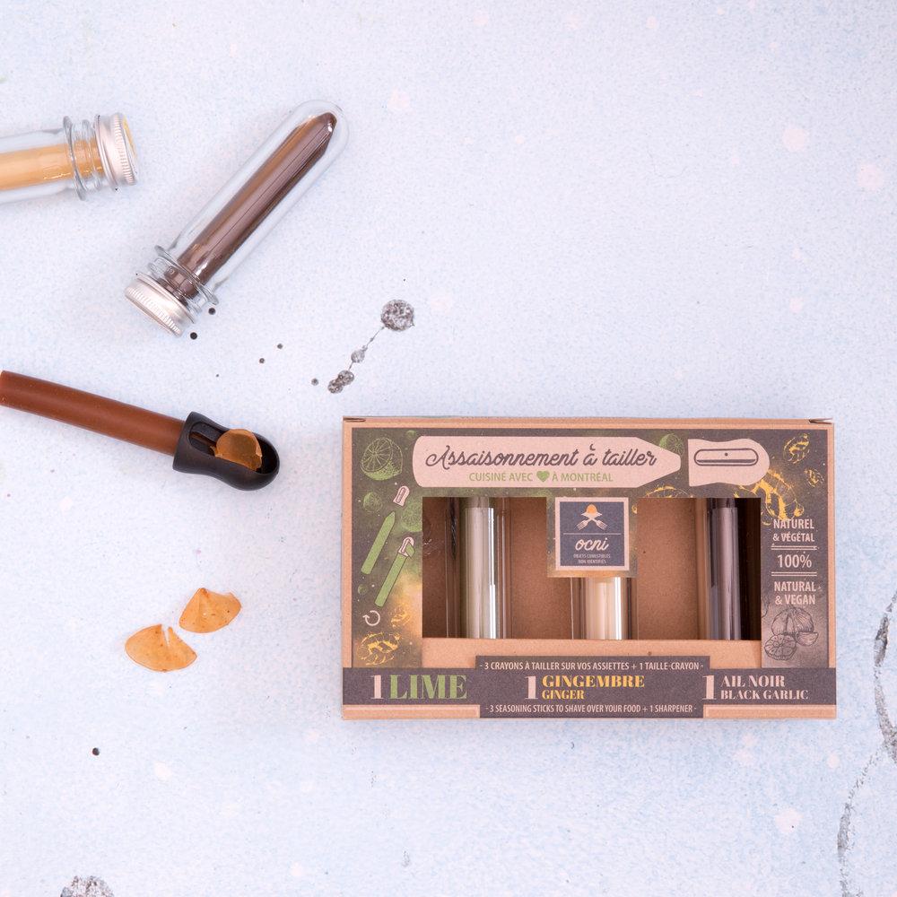 Crayons OCNI - assaisonnements à tailler