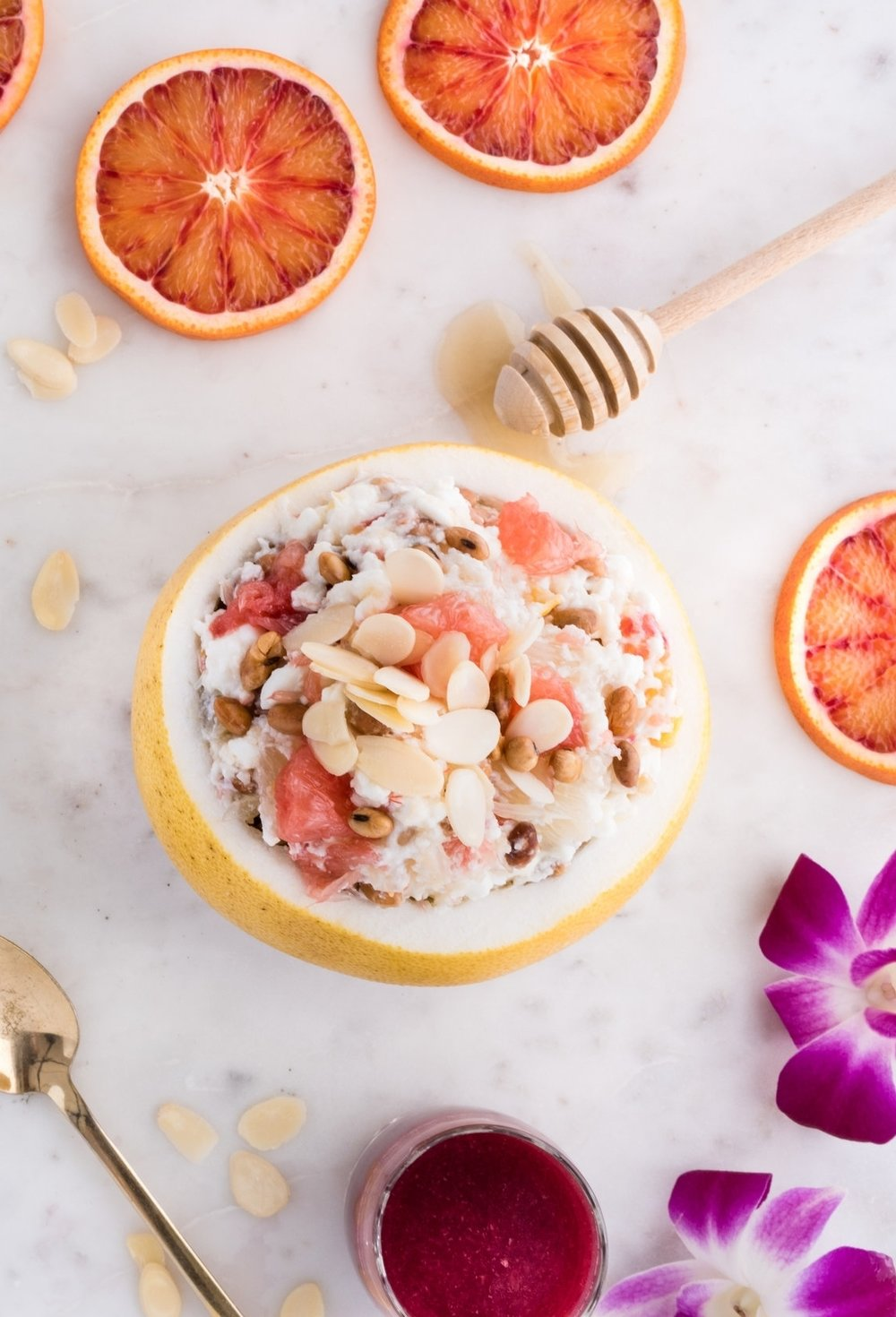 Inspirez-vous en Consultant ma recette de pomelo farci! -