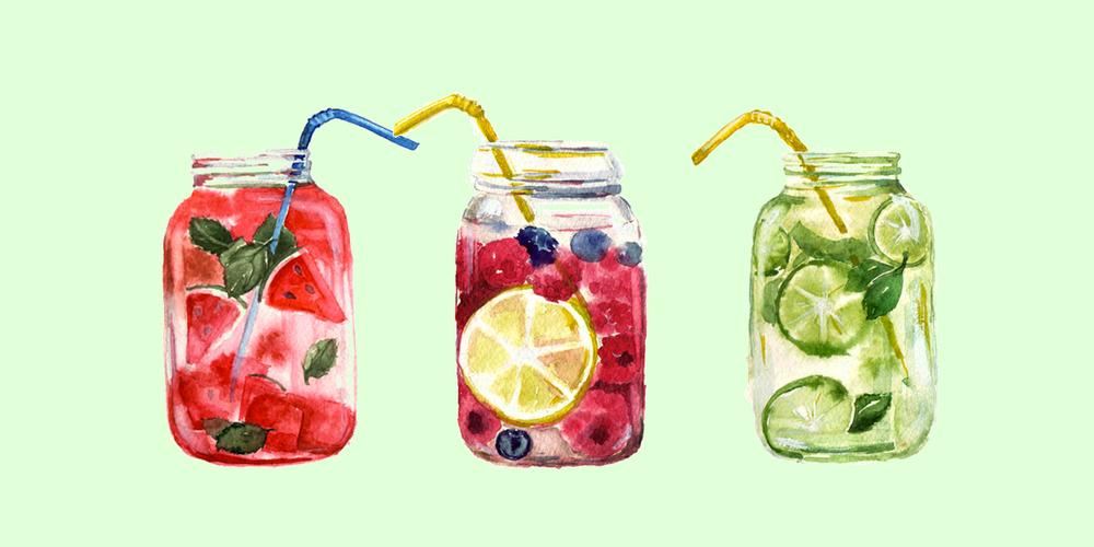 20 façons de pimper son eau aromatisée -