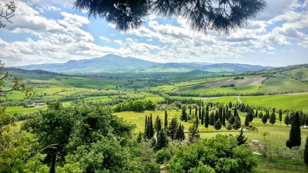 The Val d'orcia, tuscany