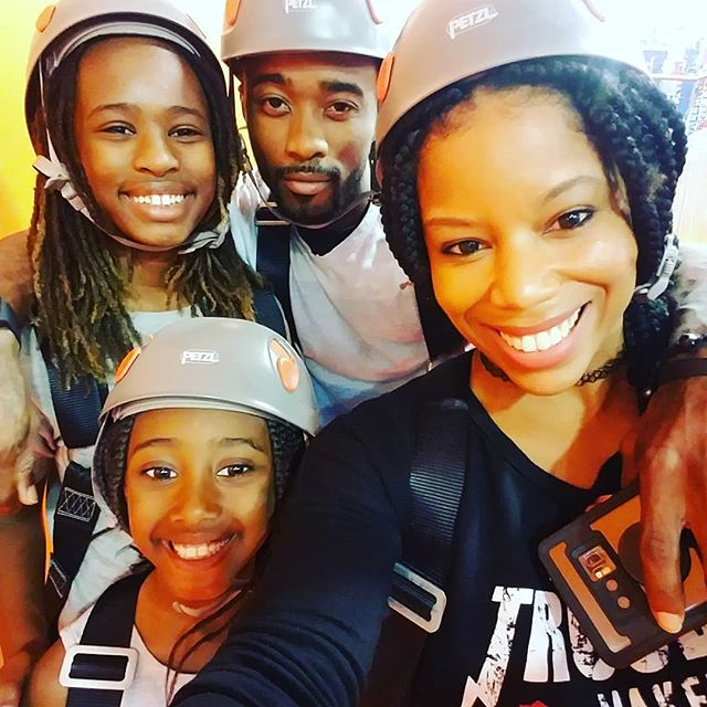 My gang is better than yours!! Such a fun time at Skyzone with my crew. #summerfun #winning #stepmomduties