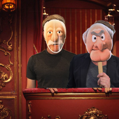 Statler and Waldorf Known for their cantankerous opinions and mutual penchant for heckling, these two men want your vote cast towards them.  Vote for Statler and Waldorf