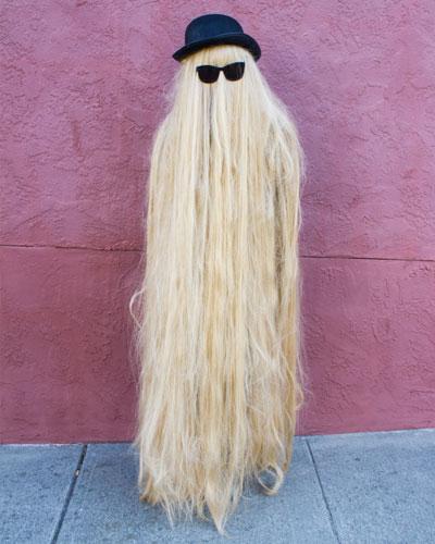 Cousin Itt Long hair, don't care.