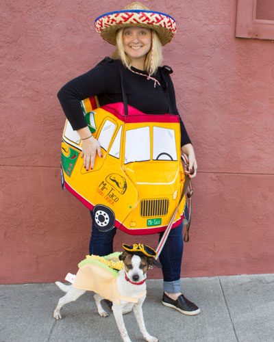 """Mr Taco - The Truck A delicious taco truck known for serving local speciality """"dog taco"""""""
