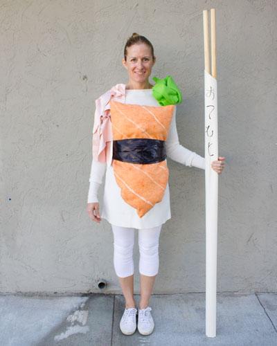 "Salmon sushi ""O-fish-ally"" ready for Halloween"