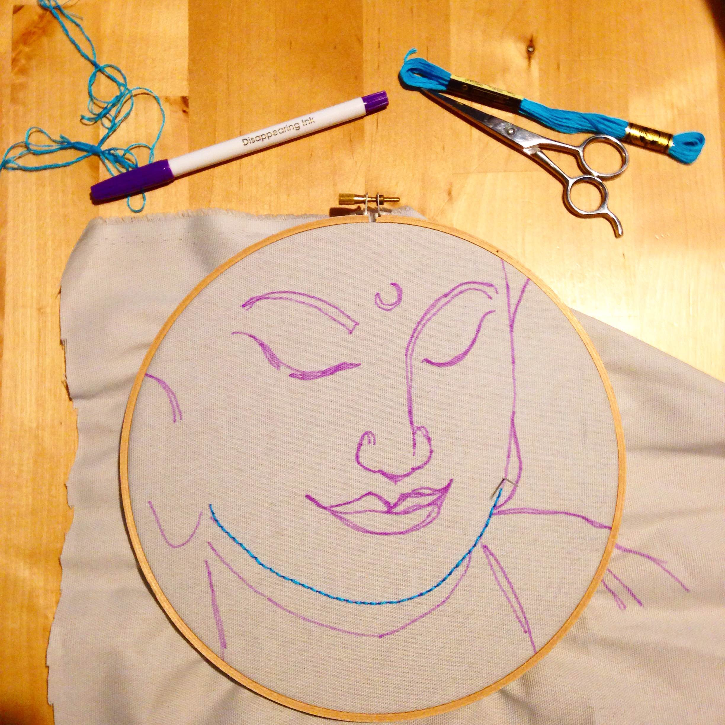 Yellow//Blue DMC U1541 Embroidery Tracing Paper