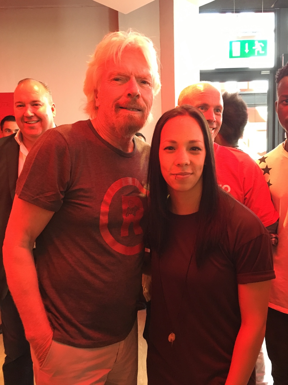 RICHARD BRANSON & COURTNAE' PAUL