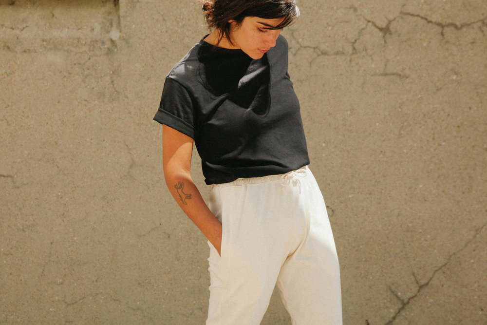 Women   Pants Natural $56   Unisex Crew Black $46