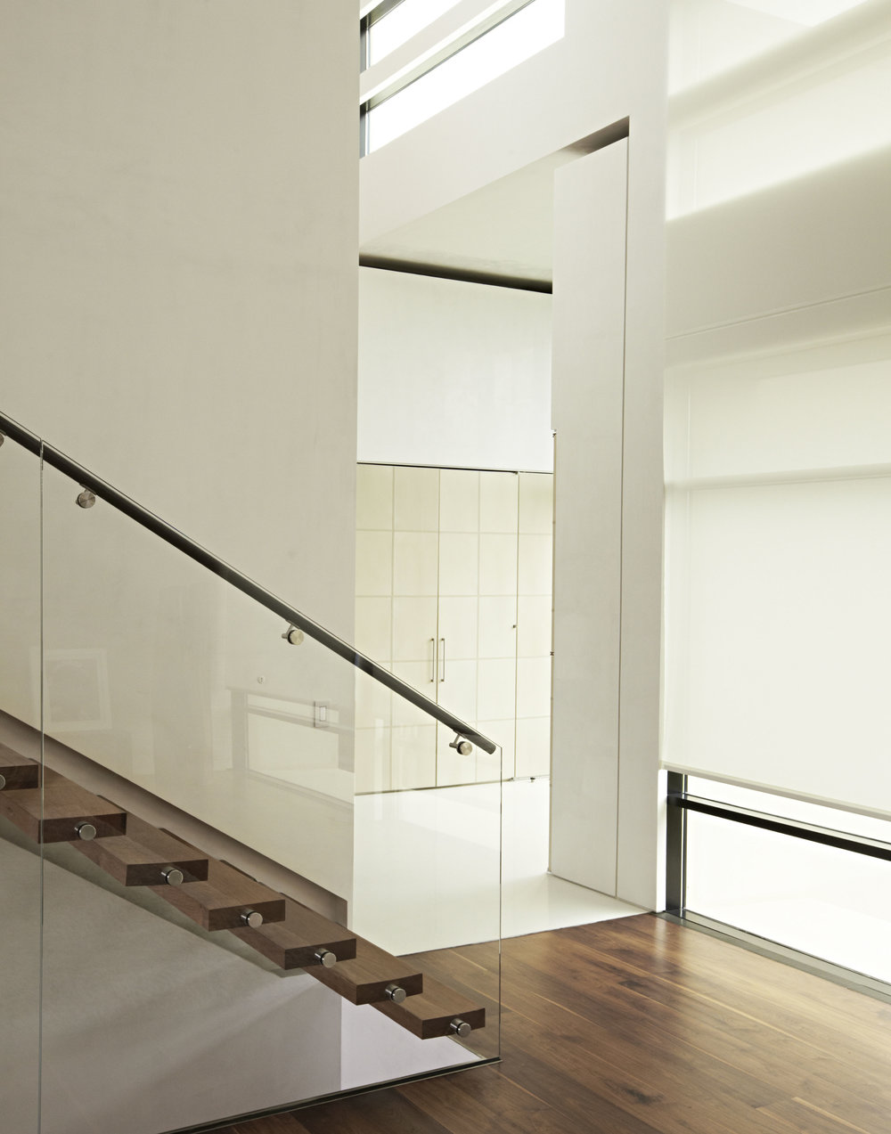 Bridgehampton stairway and foyer