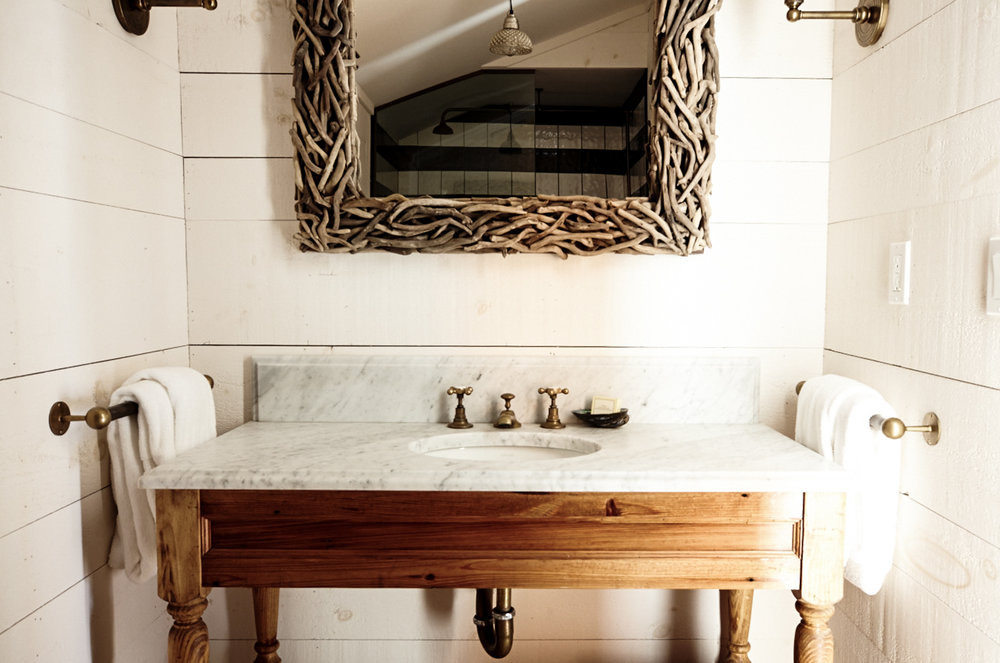 Montauk, NY hotel bathroom suite surf shack by beach