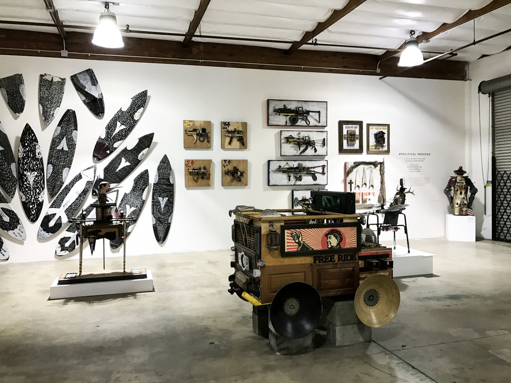 California indoor skate park and art gallery