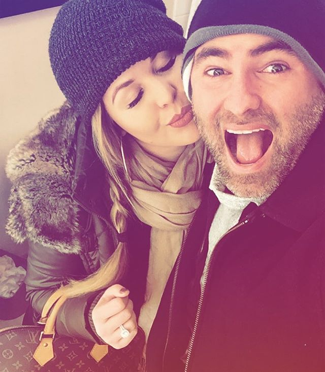 Just two Florida kids freezing in the cold!!;) #winterfashion #winterwonderland #travel #hello #engaged #shesaidyes