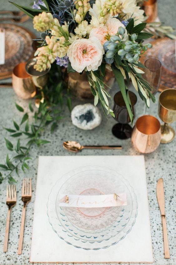 Copper details; Image via Style Me Pretty