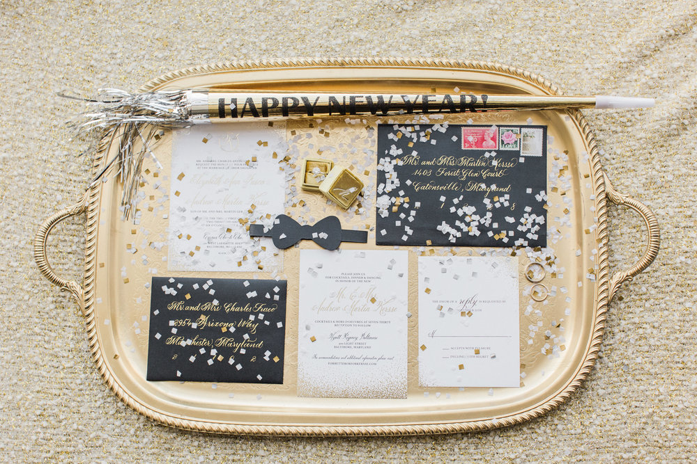 Baltimore NYE Wedding Invitation